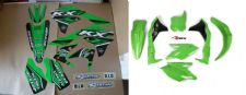 New KXF 450 16 17 18 PTS4 Graphics Sticker Plastic Kit Green BLK Plastics KXF450